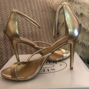 Steve Madden Gold Stilletos